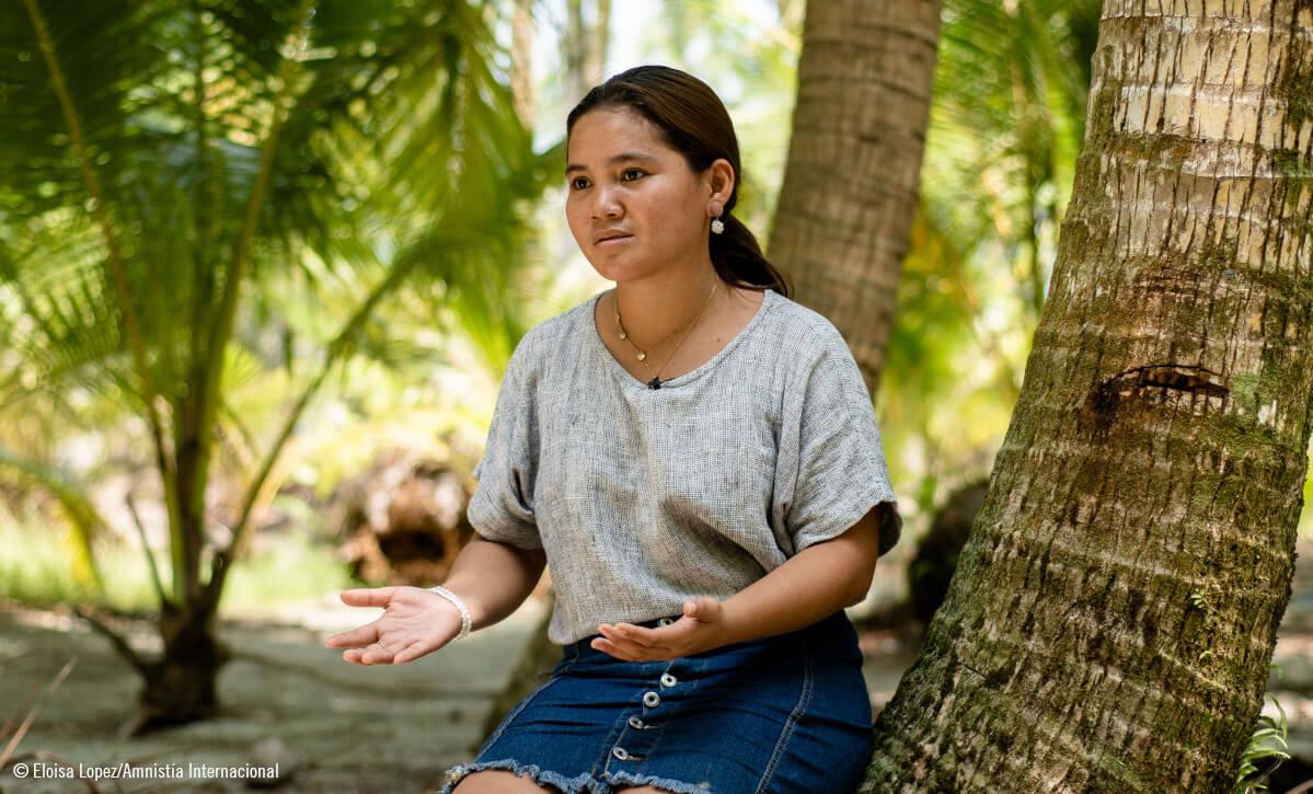 Marinel, moza activista polo clima en Filipinas