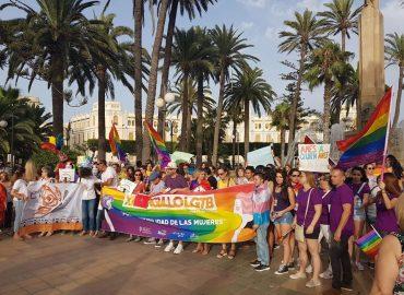 El colectivo LGTBI se manifiesta en las calles de Melilla el pasado 22 de junio de 2019