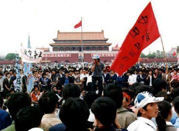 Plaza Tiananmen, mayo 1989.