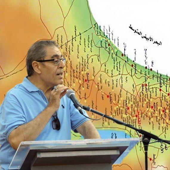 El poeta palestino Saiid Alami hablando en una conferencia