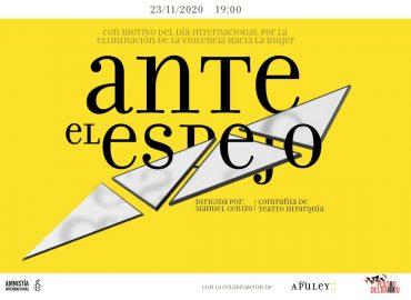 Cartel de la obra de teatro 'Ante el espejo'