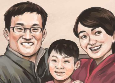 Wang Quanzhang y su familia
