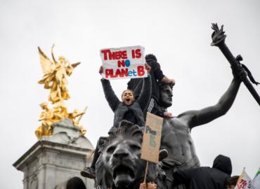 Manifestación climática en Londres, 2019