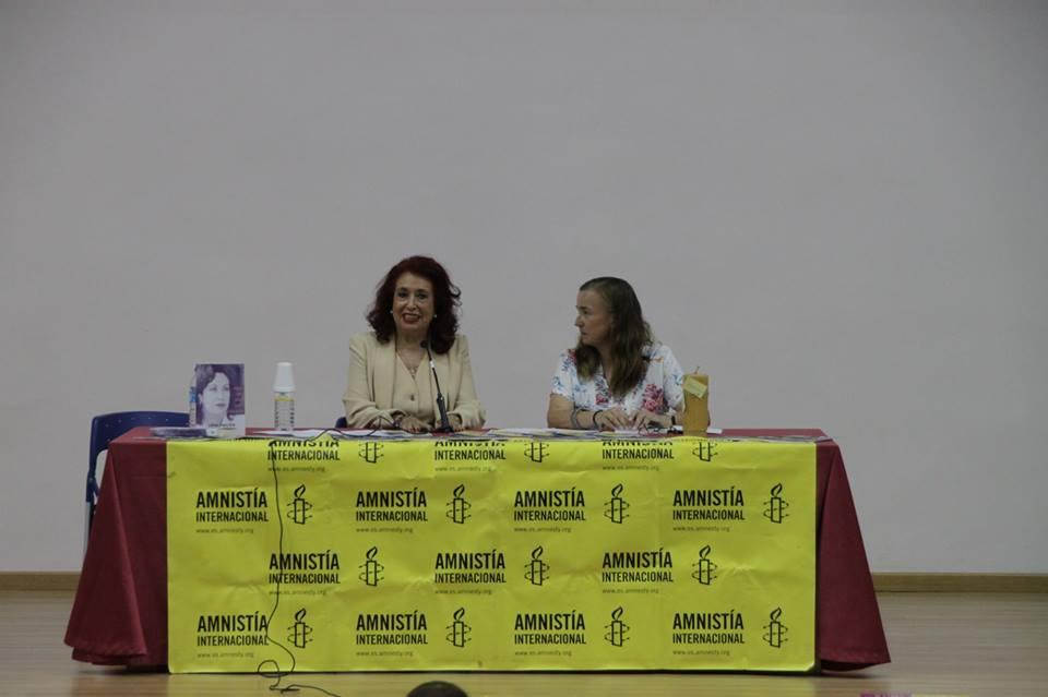 Lidia Falcón en el Ciclo de Cine y Derechos Humanos de Almería
