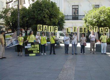 Concentración Raif Badawi