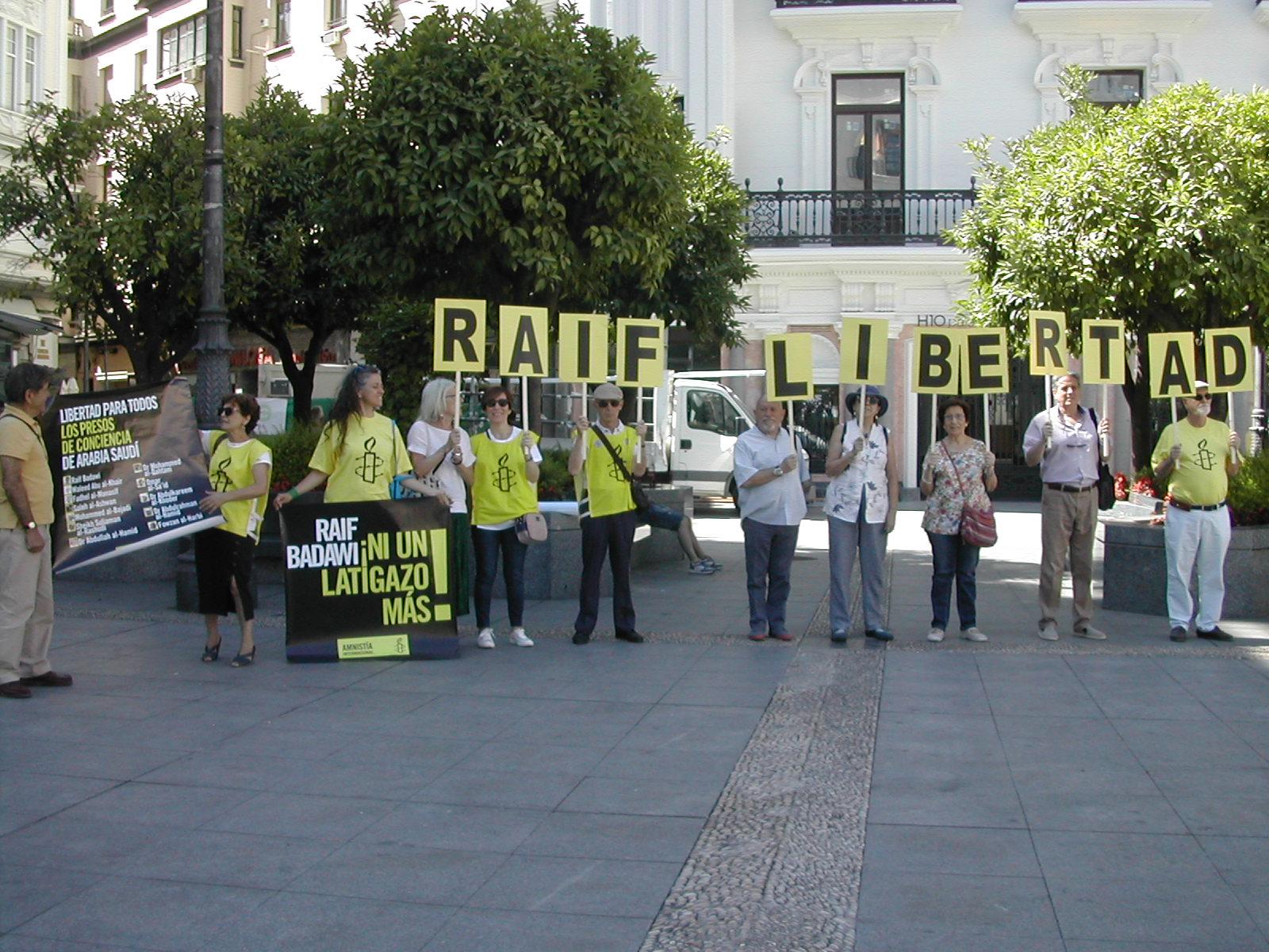 Córdoba-Concentración por Raif Badawi