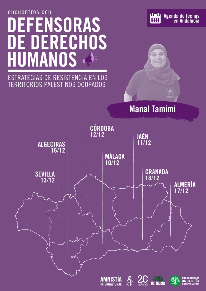Manal Tamimi de gira por Andalucía