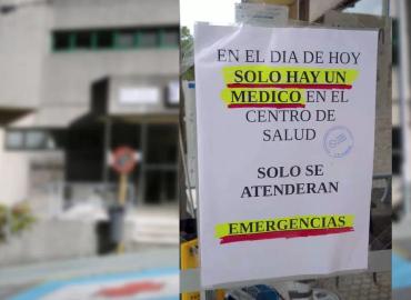 Solo hay un médico en el Centro de Salud
